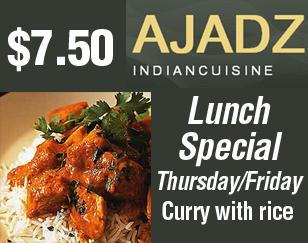 $7.50 Lunch Special on Thursday/Friday - Curry with rice