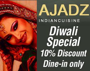 Get 10% discount for dine-in customers during the Diwali celebration.